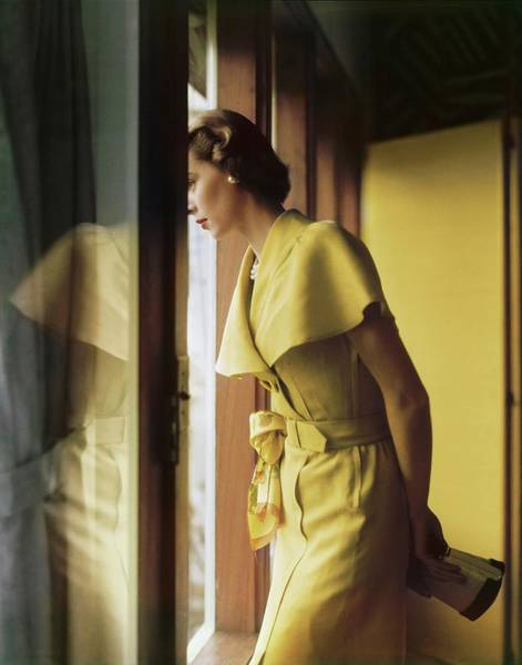 Photograph - Model In A Mary Stevens Dress by Horst P. Horst
