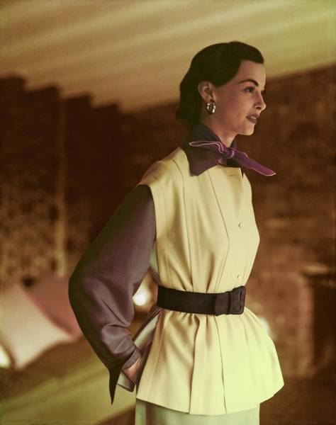 Photograph - Model In A Masket Bros. Jerkin by Horst P. Horst