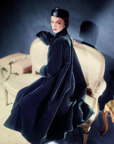 Photograph - Model In A Nettie Rosenstein Coat by Horst P. Horst