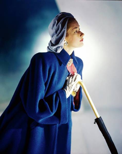 Wall Art - Photograph - Model In A Original Modes Coat by Horst P. Horst