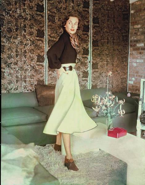 Wall Art - Photograph - Model In A Phelps Skirt by Horst P. Horst