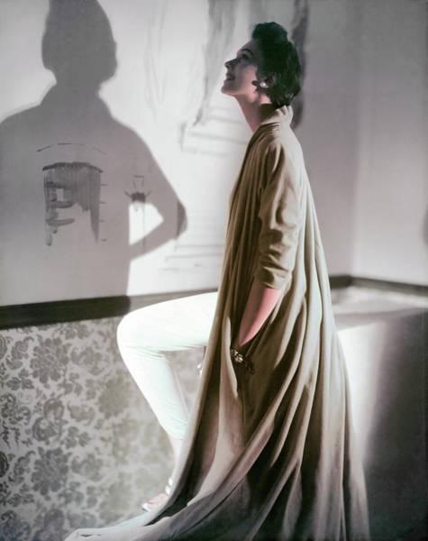 Backlit Photograph - Model In A Vanity Fair Bathrobe by Horst P. Horst