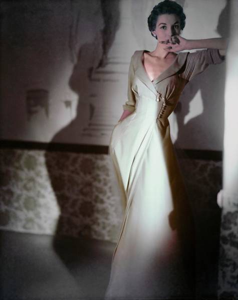 Photograph - Model In A Vanity Fair Negligee by Horst P. Horst