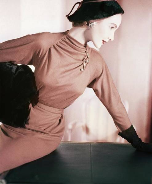 Photograph - Model In A Vogue Pattern Dress by Horst P. Horst