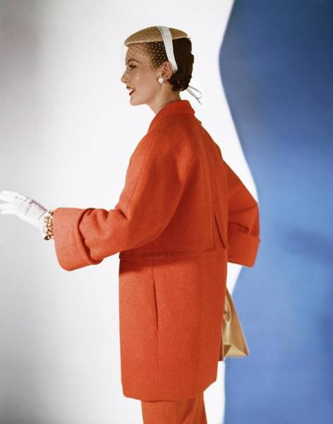 Photograph - Model In A Vogue Patterns Coat by Horst P. Horst