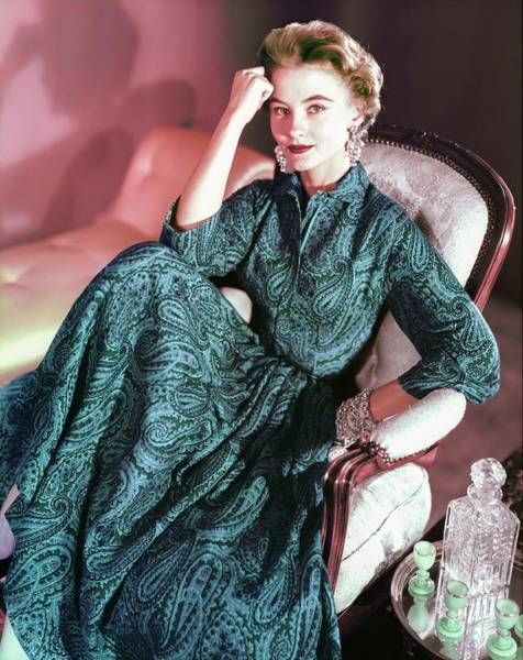 Wall Art - Photograph - Model In An Anne Fogarty Dress by Horst P. Horst