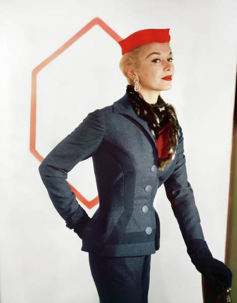 Photograph - Model In An Esperanto Suit by Horst P. Horst