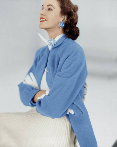 Photograph - Model In An Originala Coat by Horst P. Horst