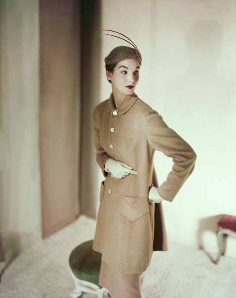 Photograph - Model In An Originala Suit by Horst P. Horst