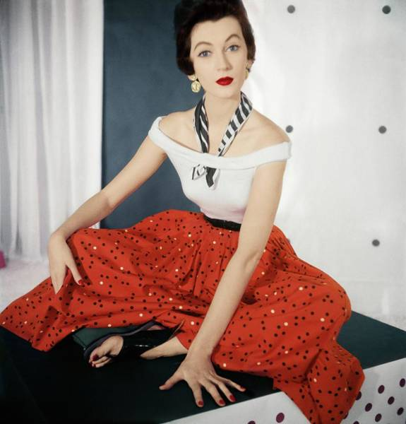 Red Cross Photograph - Model In Nelly De Grab by Horst P. Horst