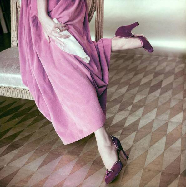 Photograph - Model In Palter Deliso Pumps by Horst P. Horst