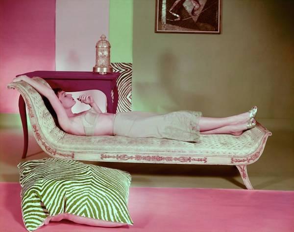 Photograph - Model In Saks Fifth Avenue Lingerie by Horst P. Horst