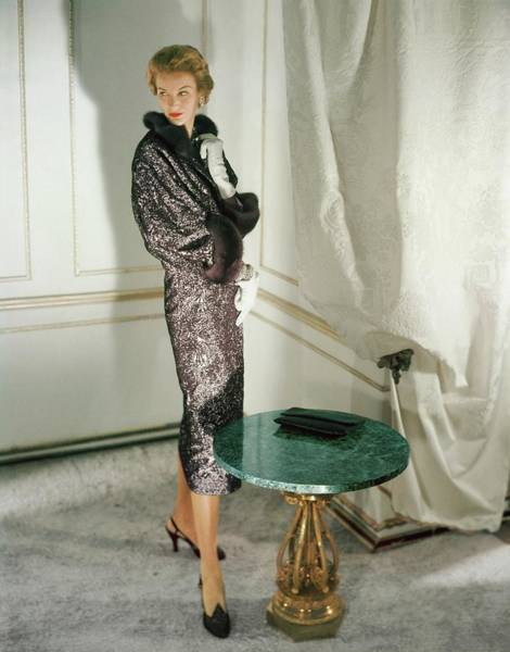 Photograph - Model In Sophie Of Saks Fifth Avenue by Horst P. Horst