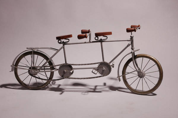 Bicycle Photograph - Model Of Vintage Bike by Hans Neleman