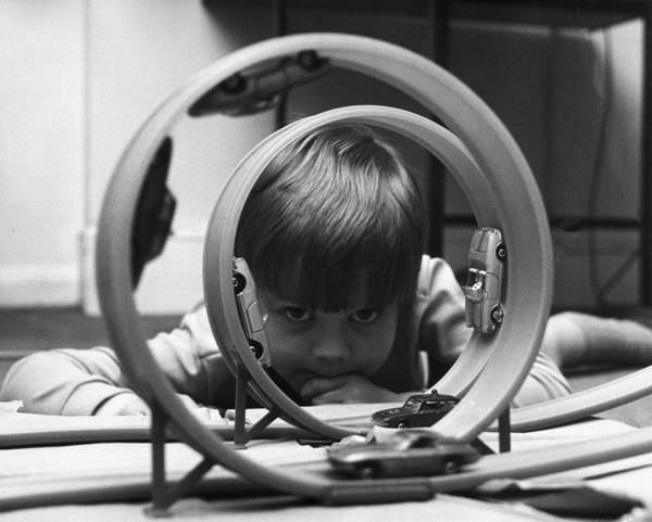 Concentration Photograph - Model Racetrack by Mike Lawn