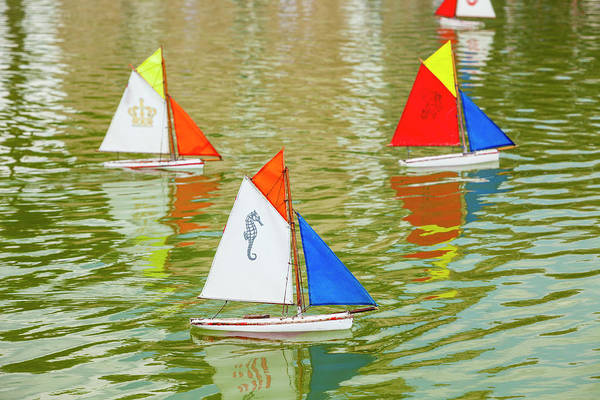Sailboat Photograph - Model Sailboats In Pond, Paris by Stuart Dee