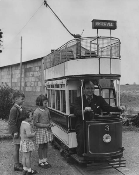 Public Land Photograph - Model Tram by Fox Photos