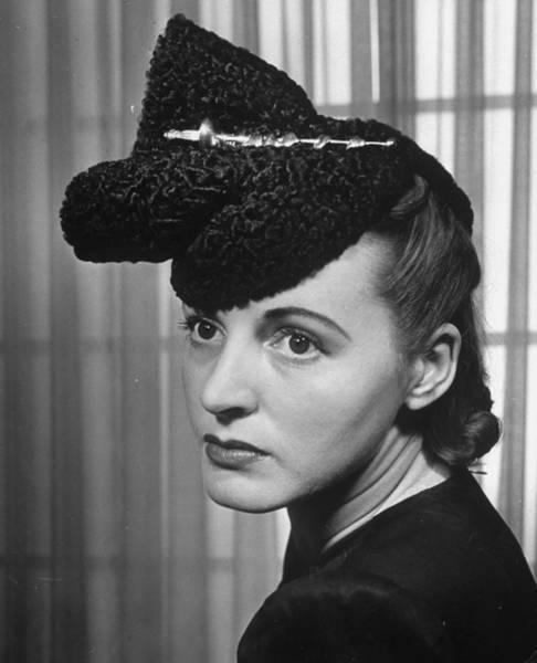 Hats For Sale Photograph - Model Wearing Persian Lamb Hat, For Sale by Alfred Eisenstaedt