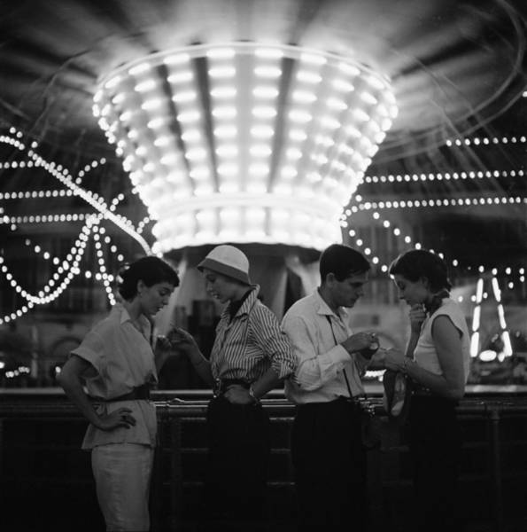 Fashion Model Photograph - Models At A Carnival by Gordon Parks