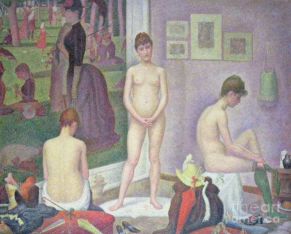 Wall Art - Painting - Models By Seurat by Georges Pierre Seurat