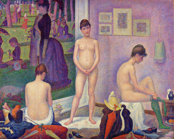 Wall Art - Painting - Models - Digital Remastered Edition by Georges Seurat