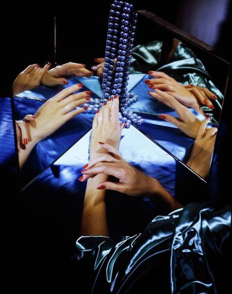 Photograph - Model's Hands By Mirrors And Pearls by Horst P. Horst