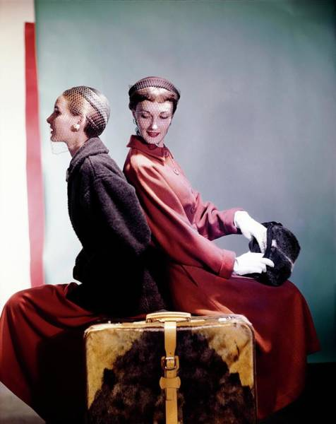 Photograph - Models In Sportwhirl Coats by Horst P. Horst