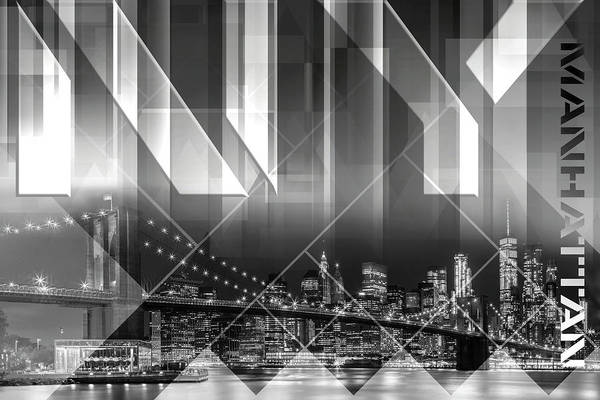 Wall Art - Photograph - Modern Art Brooklyn Bridge And Skyline by Melanie Viola
