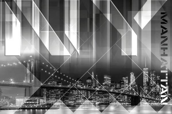 Wall Art - Photograph - Modern Art Brooklyn Bridge And Skyline by Melanie Viola