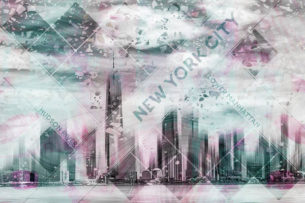 Wall Art - Photograph - Modern Art Lower Manhattan by Melanie Viola