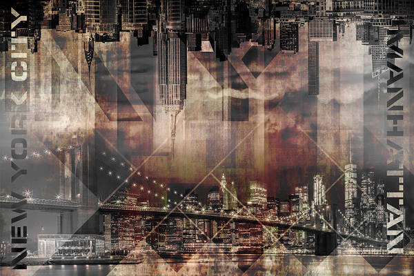 Wall Art - Photograph - Modern Art Manhattan Skylines by Melanie Viola