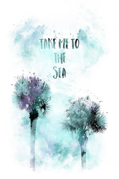 Wall Art - Digital Art - Modern Art Take Me To The Sea - Jazzy Watercolor by Melanie Viola