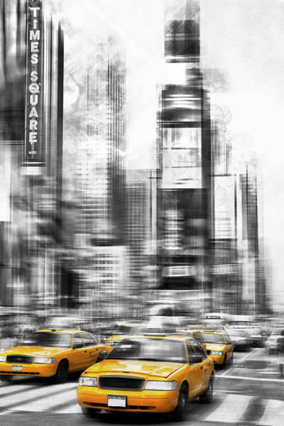 Wall Art - Photograph - Modern Art Times Square by Melanie Viola