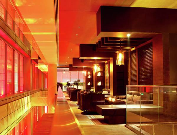 Social Living Wall Art - Photograph - Modern Bar Lounge by Nikada