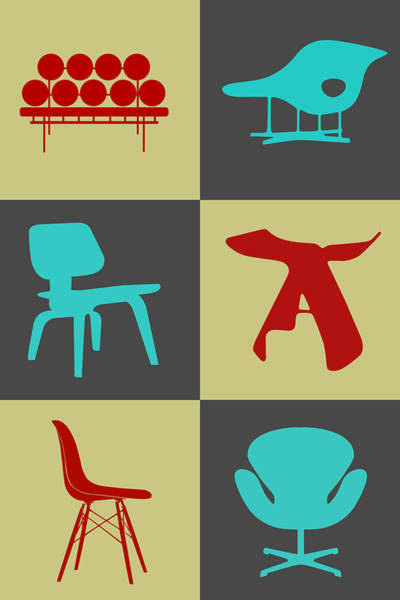 Wall Art - Digital Art - Modern Chair Collection II by Naxart Studio