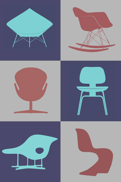Wall Art - Digital Art - Modern Chair Collection  by Naxart Studio