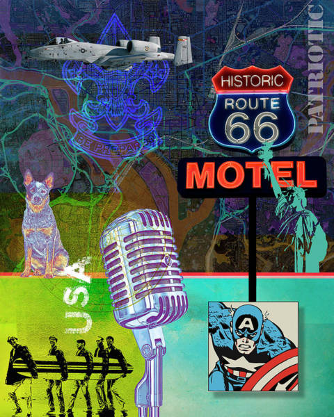 Digital Art - Route 66 by Gary Grayson