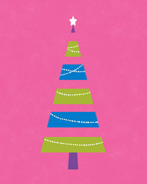 Digital Art - Modern Glam Christmas Tree 2- Art By Linda Woods by Linda Woods