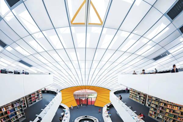 Home Interior Photograph - Modern Library by Nikada