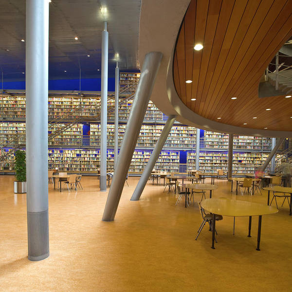 Publication Photograph - Modern Library Space With Sitting Area by Freezingtime