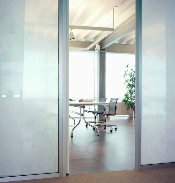 Frosted Glass Photograph - Modern Office Interior by Walter Zerla