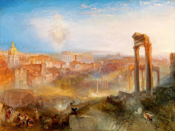 Wall Art - Painting - Modern Rome-campo Vaccino - Digital Remastered Edition by William Turner