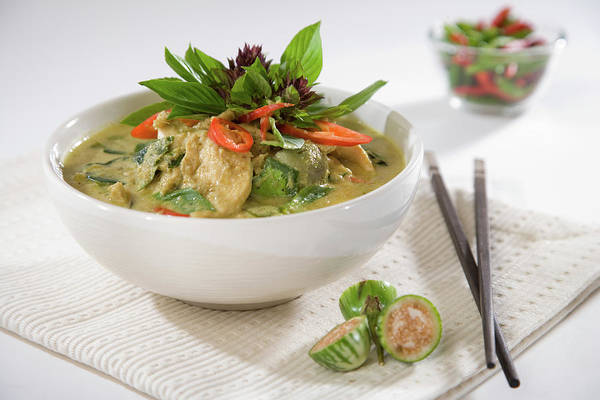 Raw Meat Photograph - Modern Thai Green Curry by Shutterworx
