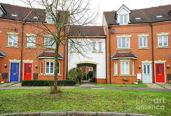 Wall Art - Photograph - Modern Town Houses by Tom Gowanlock