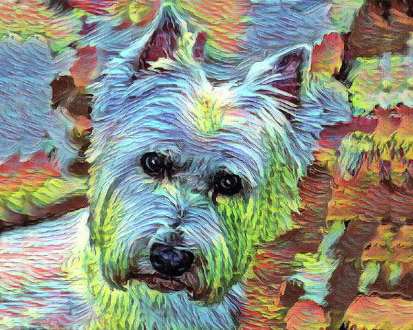 Painting - Modern Westie Portrait by Portraits By NC