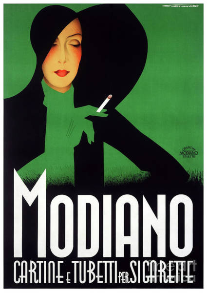 Wall Art - Drawing - Modiano Italy Vintage Poster Restored 1936 by Vintage Treasure