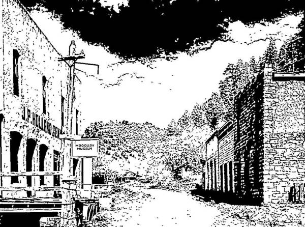 Drawing - Mogollon New Mexico Ghost Town by Kevin Heaney