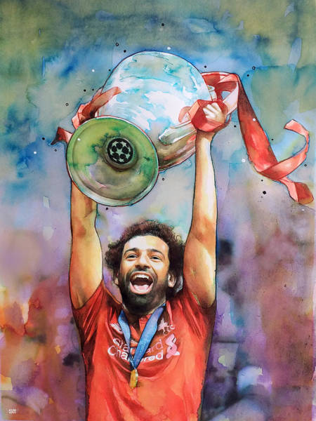 Wall Art - Painting - Mohamed Salah, Liverpool by Wachira Kacharat
