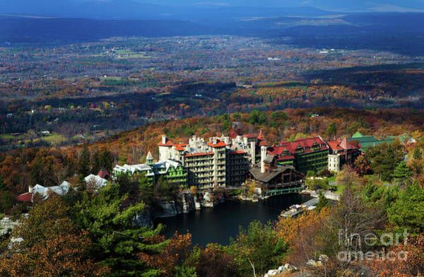 Wall Art - Photograph - Mohonk Mountain House Elevated View by Henry C