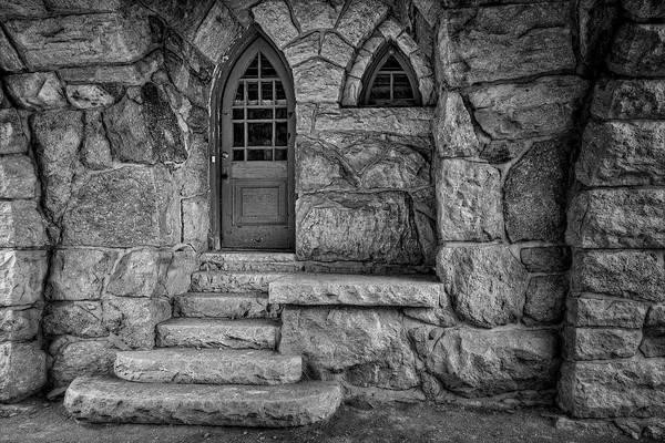 Photograph - Mohonk Preserve Gatehouse Ny Bw by Susan Candelario